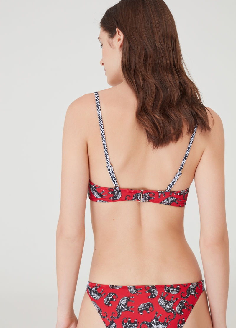 Bralette bikini top with all-over print image number null