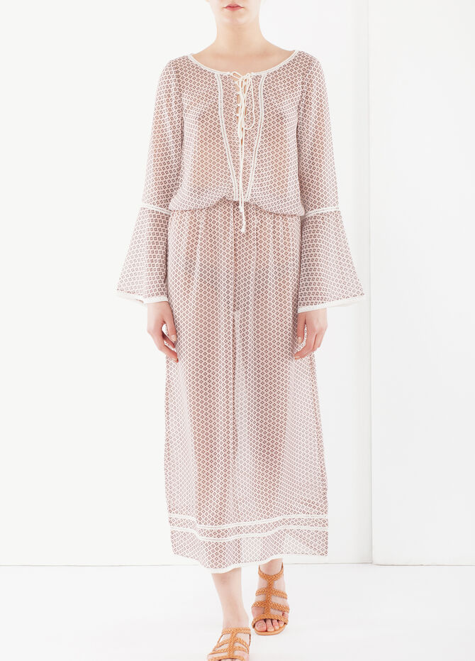 Long dress with lacing at front