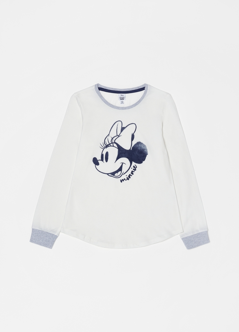 Striped Disney Minnie Mouse pyjamas image number null