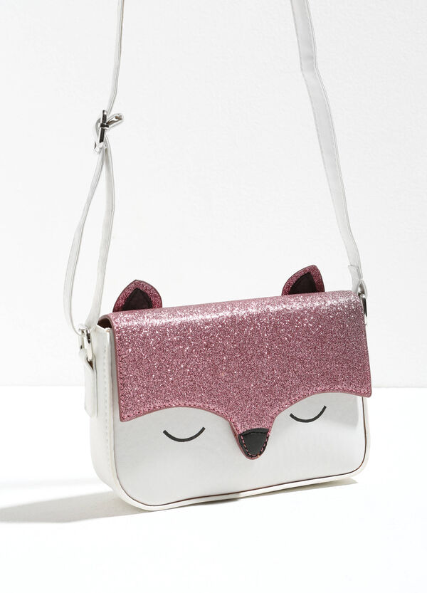 Shoulder bag with glitter fox patch | OVS