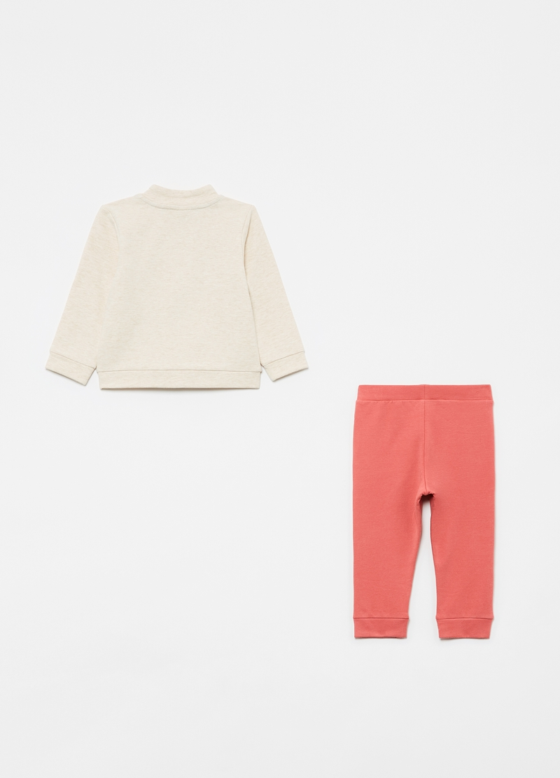 Jogging set with full-zip sweatshirt and trousers with fruit print image number null