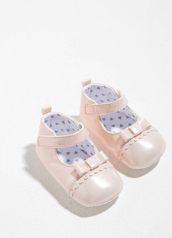 Ballerina flats with bow and strap | OVS