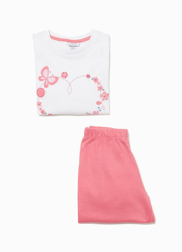 Pyjamas with floral heart print