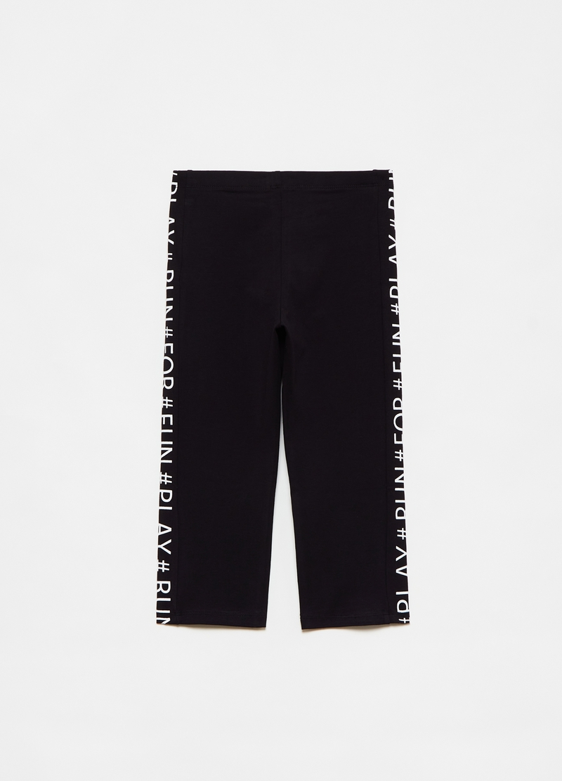 Leggings con bande laterali lettering image number null