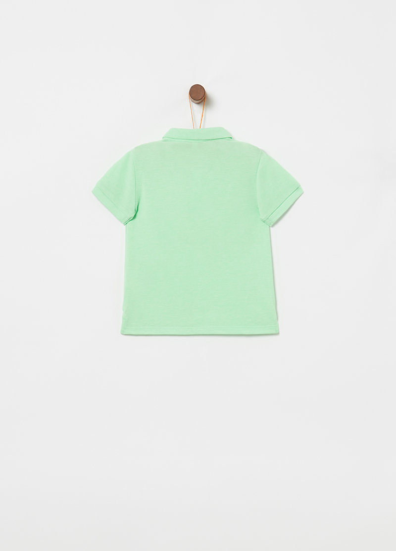 Piquet polo shirt with ribbing and embroidery image number null