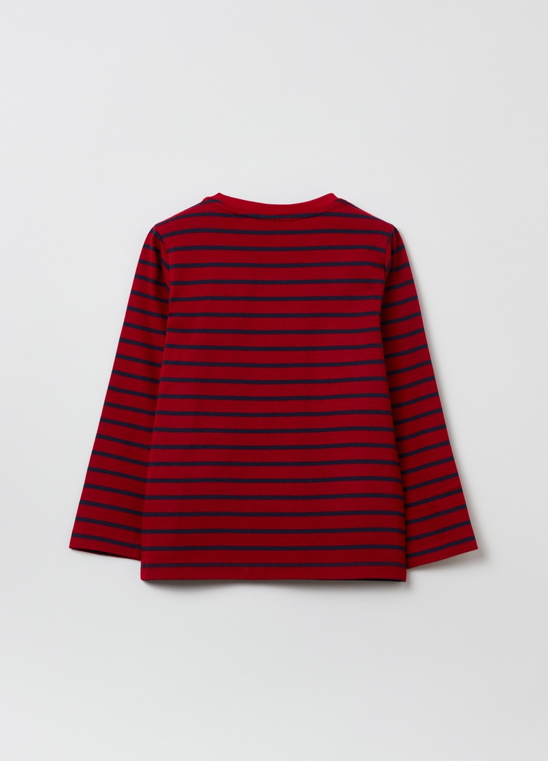 T-shirt in cotone a righe image number null