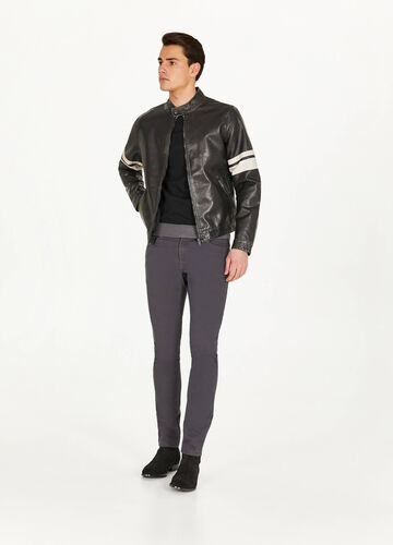 Textured leather-look jacket