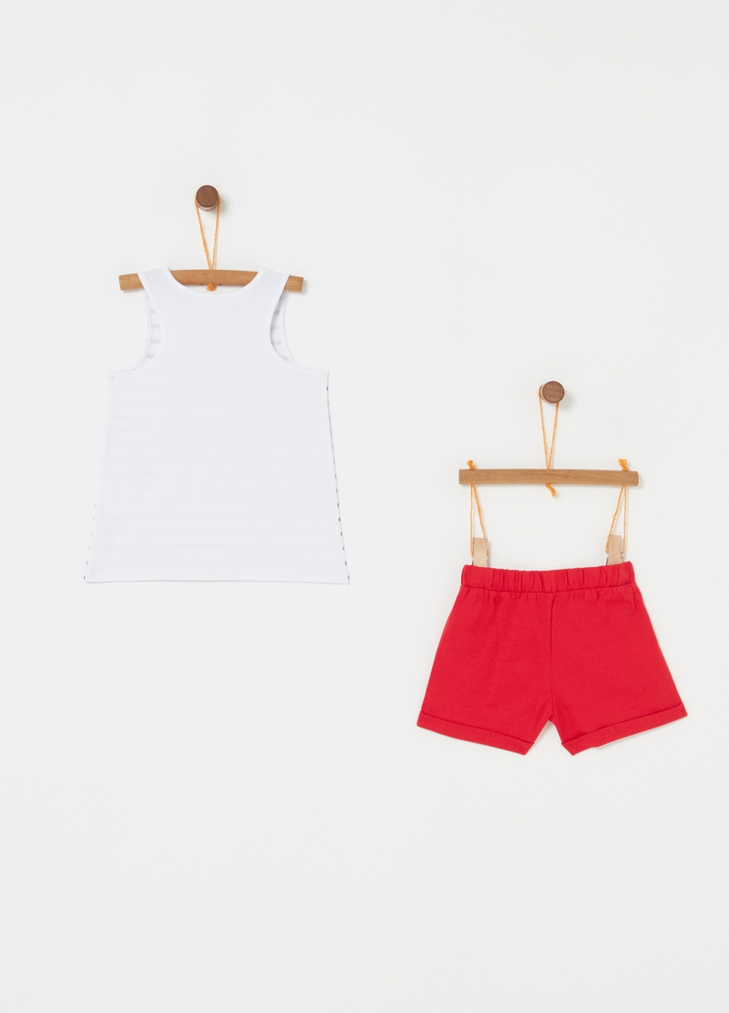 Set top e shorts fantasia e stampa image number null