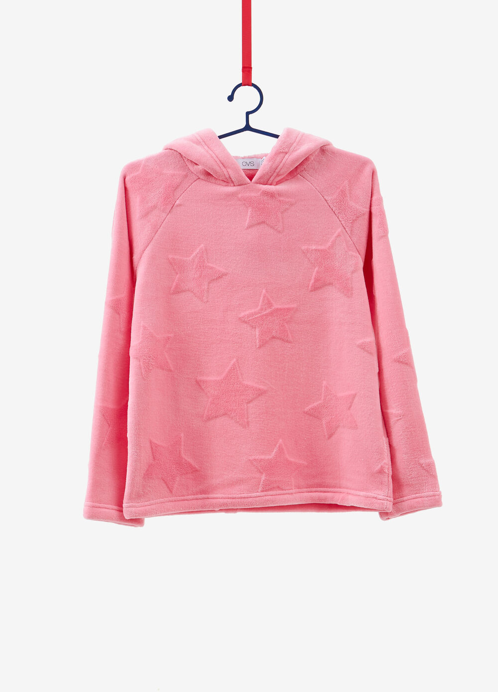 Sweatshirt with flocked star print