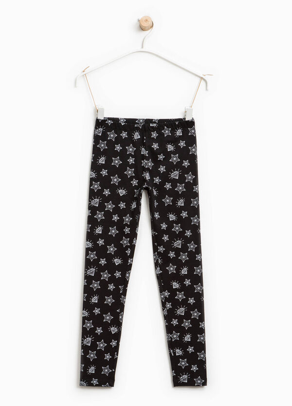 Leggings with star and diamonds print | OVS