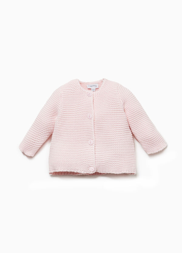 100% cotton knitted cardigan
