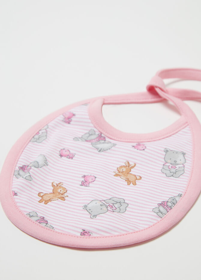 Two-pack bibs with animals