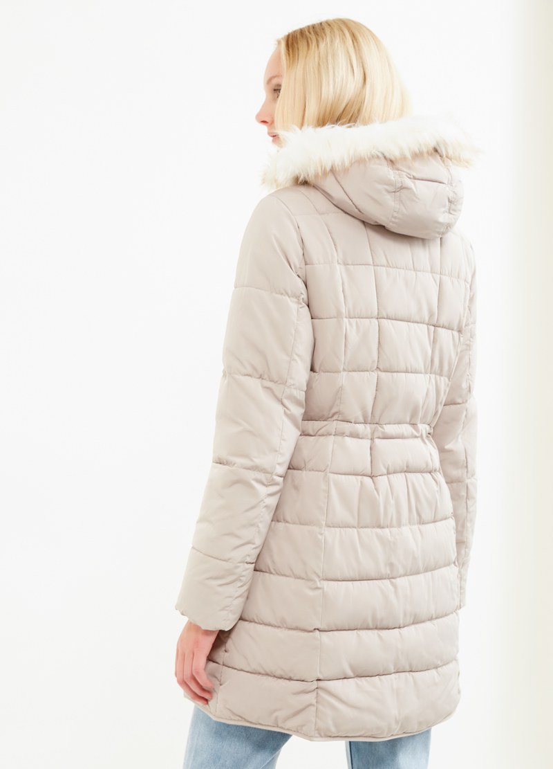 Parka with hood and fur image number null