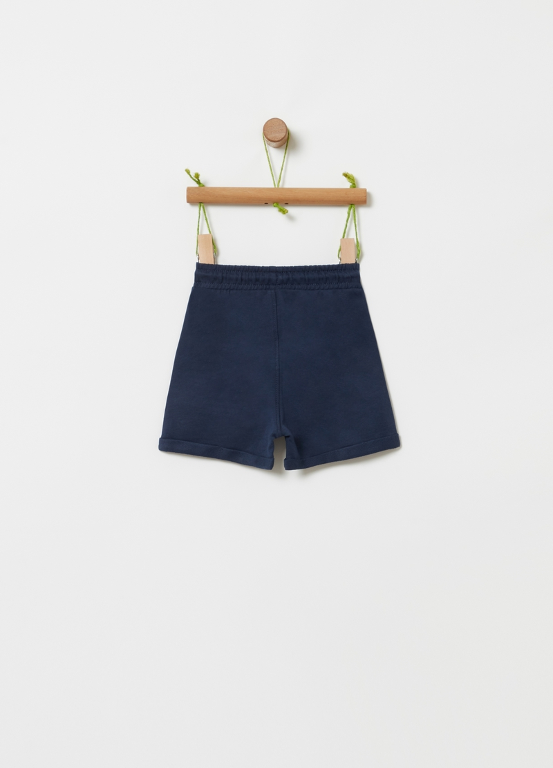 Shorts in 100% organic cotton with pockets image number null