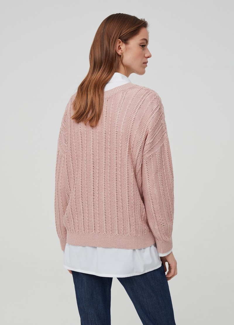 Maglia con lurex tricot image number null