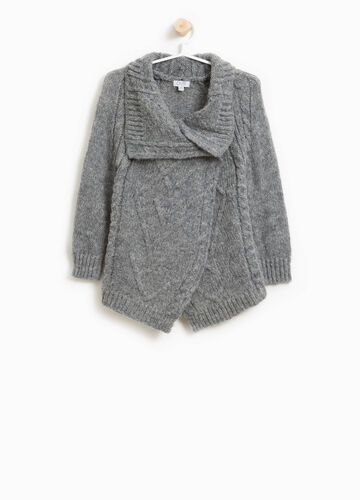 Wool and mohair knitted cardigan