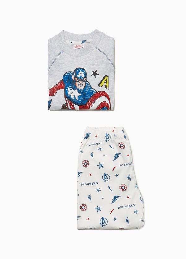 Cotton pyjamas with The Avengers print