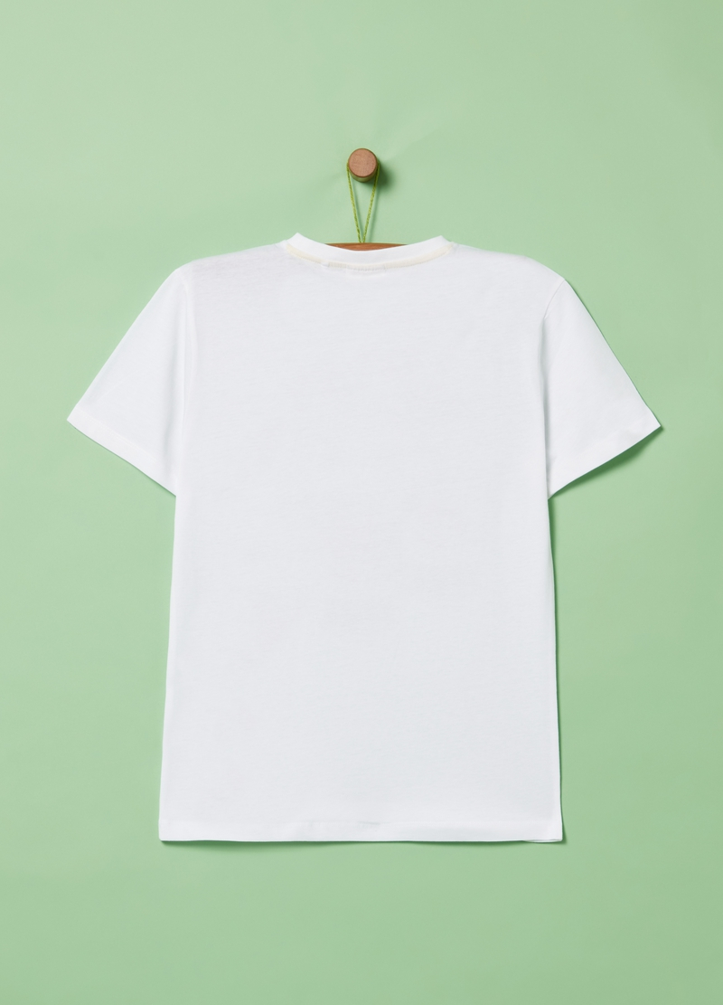 100% cotton T-shirt with skeleton print image number null