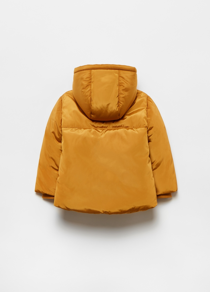 Padded jacket with borg fleece image number null