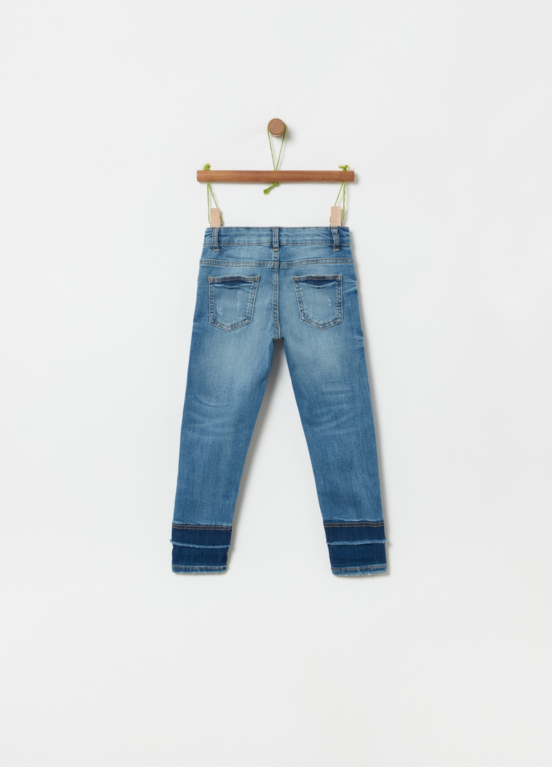 Jeans stretch con perline image number null