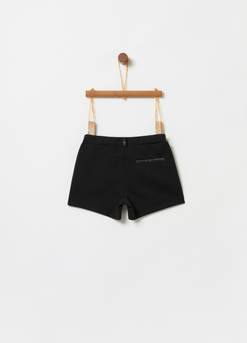 Shorts effetto pelle con tasche image number null