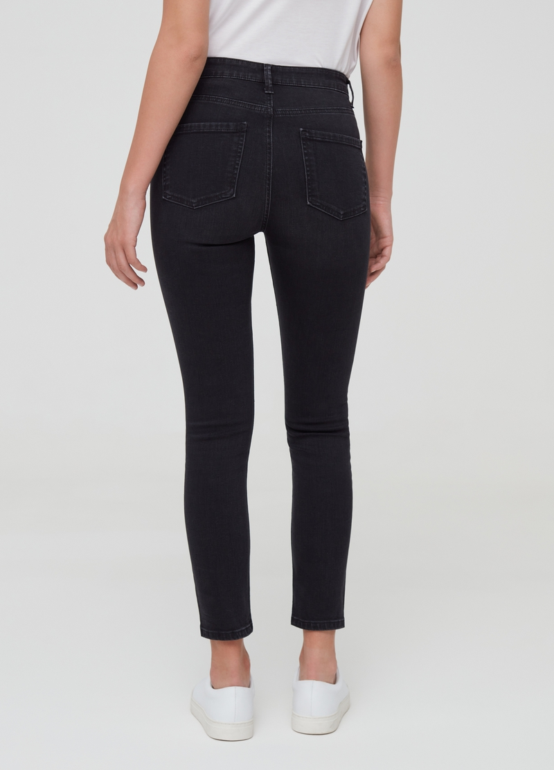 Skinny-fit crop jeans with five pockets image number null