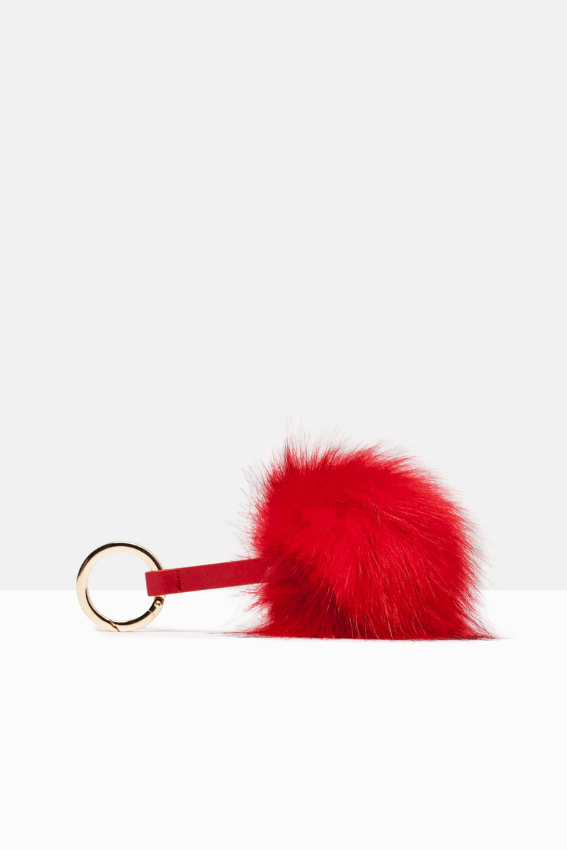 Keyring with pompom image number null