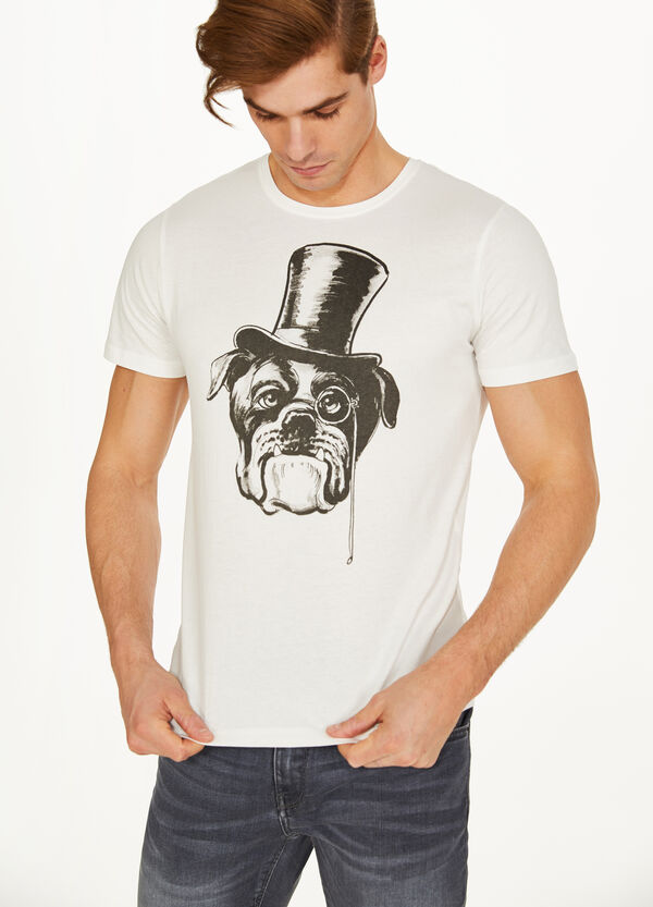 100% cotton T-shirt with contrasting print