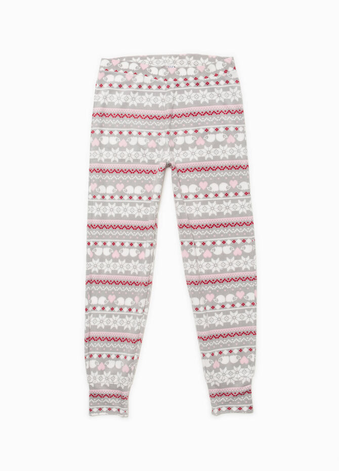 Fleece pyjamas with geometric pattern