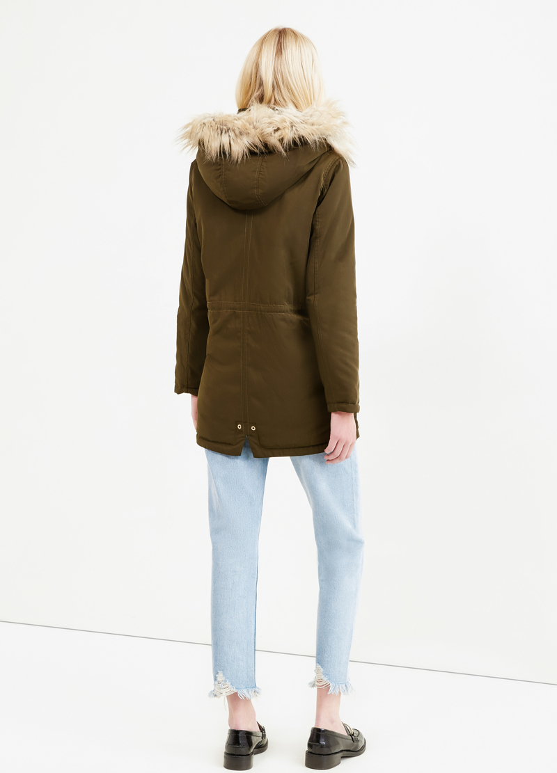 Solid colour parka with hood image number null