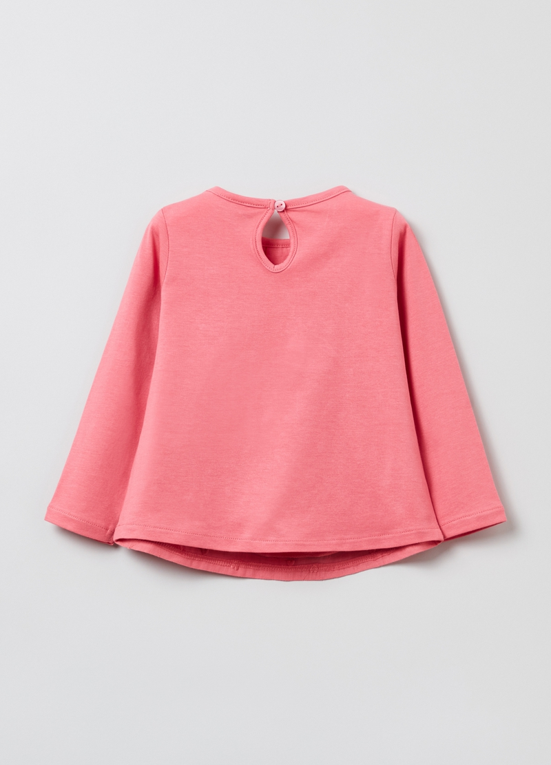 T-shirt in cotone con ricami image number null