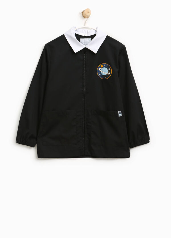 Cotton smock with patch and zip | OVS