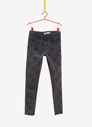 Super-skinny-fit stretch jeans with star pattern