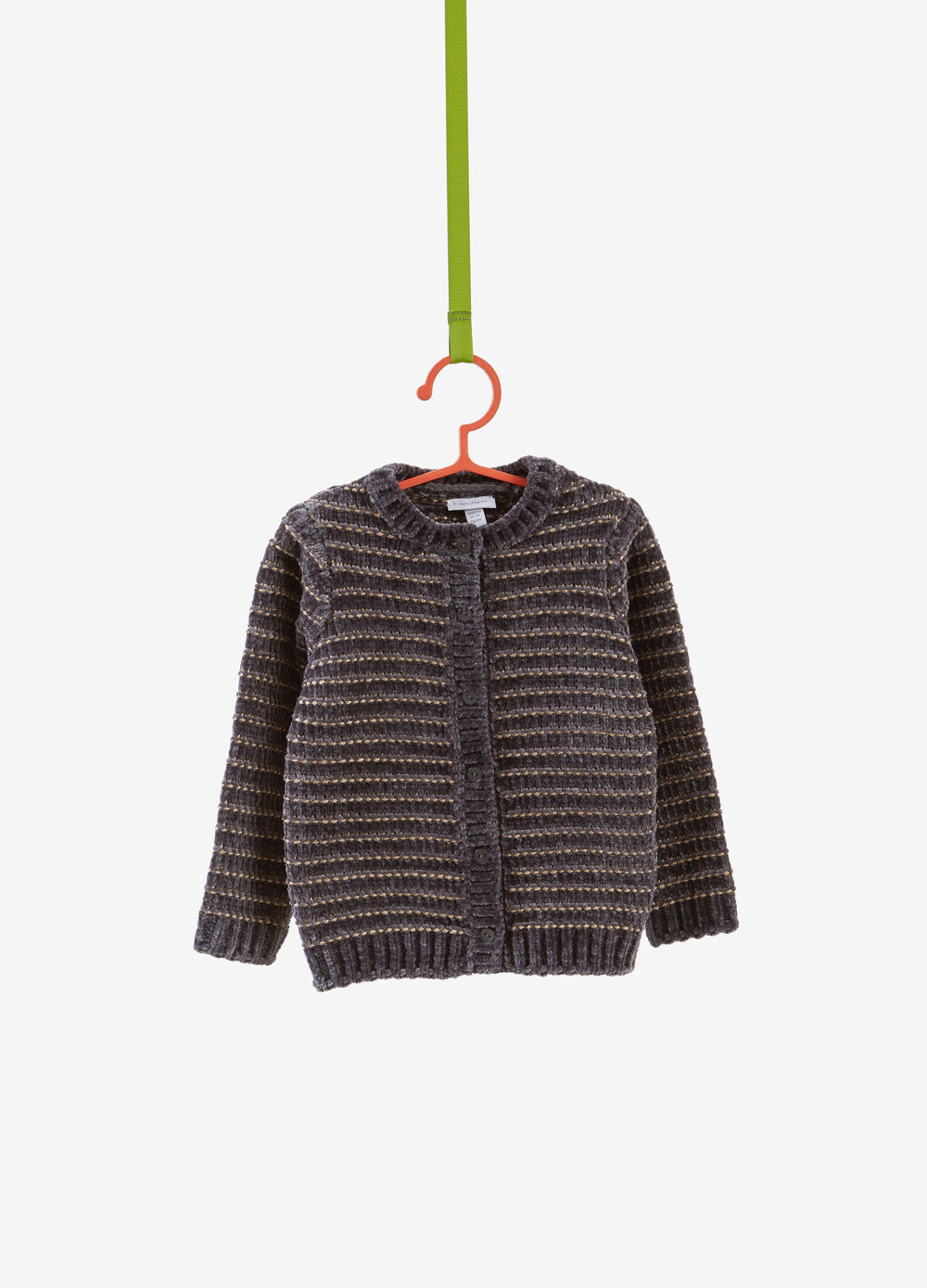 Chenille cardigan with lurex