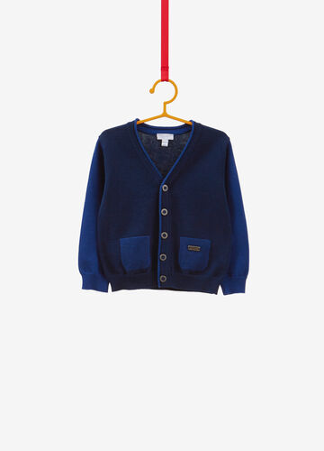 100% cotton knitted cardigan with pockets