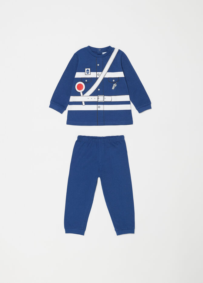 100% cotton pyjamas with policeman