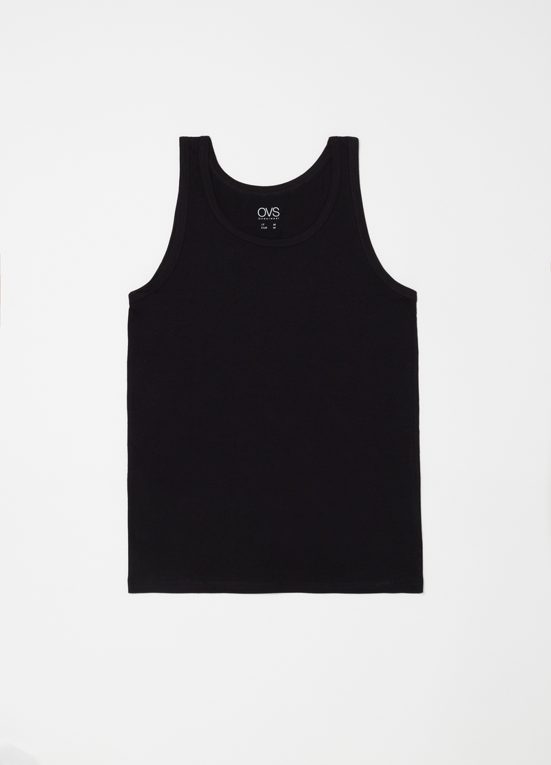 Three-pack racerback vests with round neck image number null