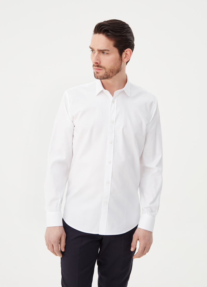 Regular-fit shirt with rounded cuffs image number null