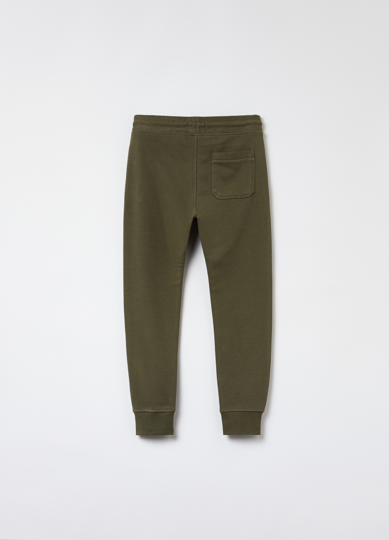 Joggers in cotone con patch lettering image number null