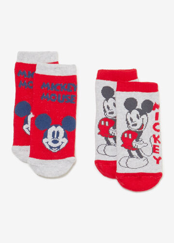 Two-pair pack Mickey Mouse slipper socks