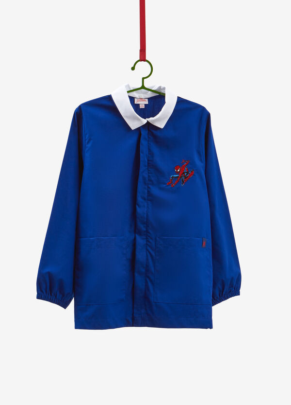 Smock with Spiderman patch