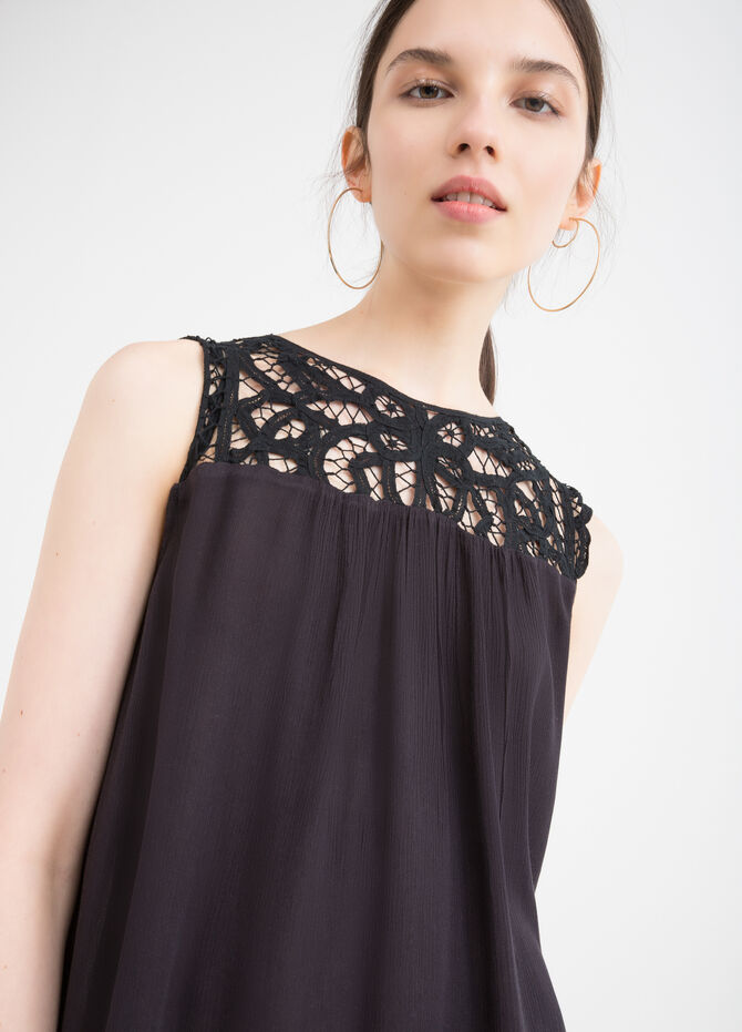 100% rayon blouse with insert