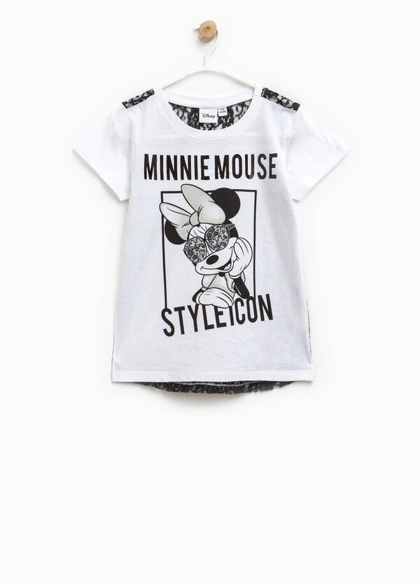 Two-tone Minnie Mouse T-shirt with lace | OVS