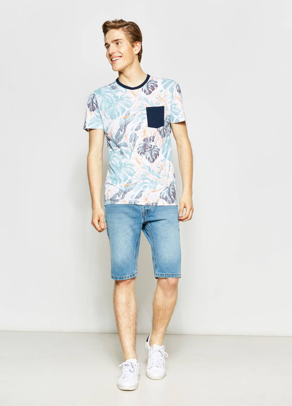 G&H floral T-shirt with small pocket | OVS