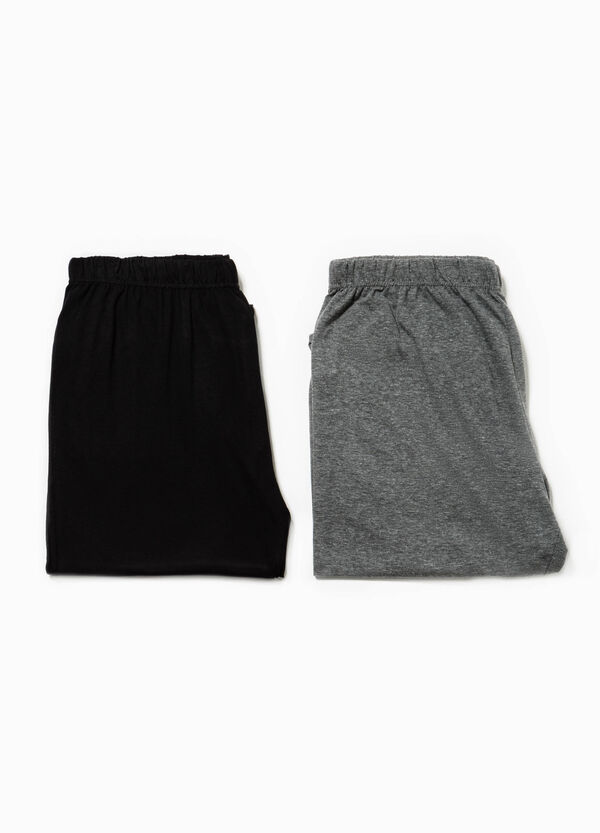 Two-pack solid colour pyjama trousers   OVS