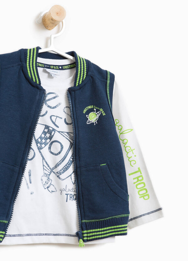 100% cotton T-shirt and gilet outfit | OVS