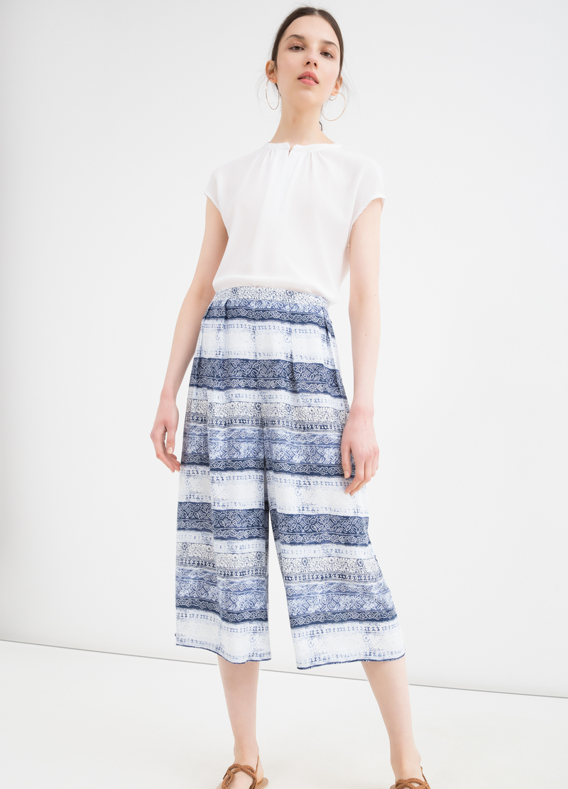Gaucho pants in 100% viscose image number null