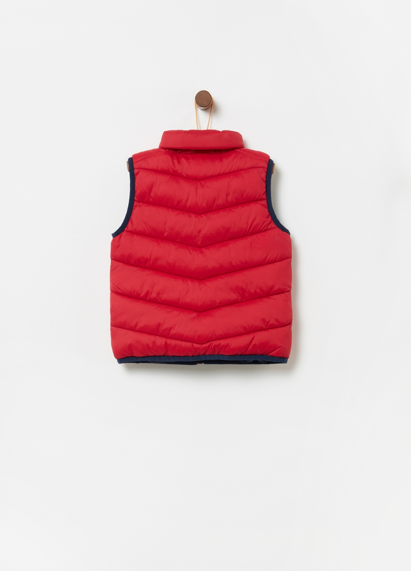Padded gilet with pockets and zip image number null