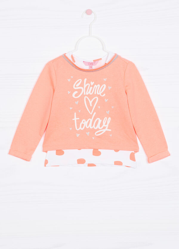 Cotton blend top and sweatshirt set | OVS