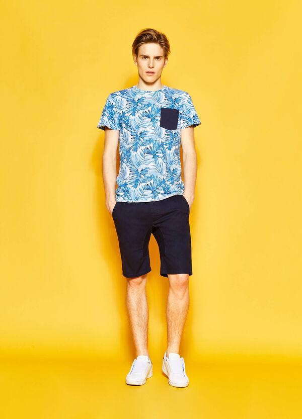 Floral T-shirt with pocket | OVS